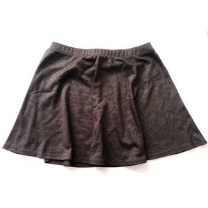 Forever 21 glitter skirt in dark grey